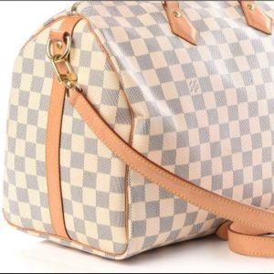 💯% Authentic Louis Vuitton Speedy 35 Bandouliere